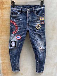sommernetzhose Rabatt Herren-Jeans Sommer dünner Abschnitt dünne Stretch Fußhosen Netz rot Gesellschaft Kerl hellblau Trend neun Hosen
