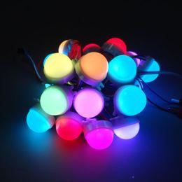 20 teile / los DC12V WS2811 30mm Zerstreute LED Pixel Modul Farbenreiche 3LEDs 5050 RGB led lampe string D30 module IP68 0,72 Watt / STÜCKE von Fabrikanten