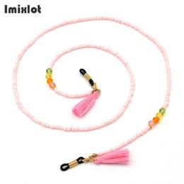 Красочные очки онлайн-Colorful Tassel Glasses Chain Pearl Beaded Sunglass Eyeglasses Reading Glasses Chain Eyewears Cord Holder Neck Strap Rope