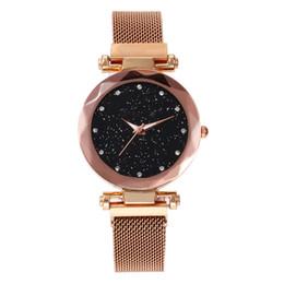 женские модные наручные часы Скидка Нержавеющая Сталь Роскошные Женские Женские Часы Модные Наручные Часы Кварцевые Небесные Звездные Женщины Браслет Часы Montre Femme