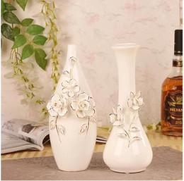 Hermoso jarrón de decoración online-Florero de cerámica del vientre de cuello largo creativo, regalo hermoso de la porcelana del arte, decoración de la mesa de la oficina en casa