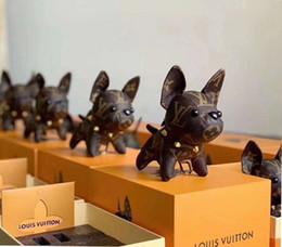 Argentina Alta calidad de cuero bulldog francés llavero diseño de la marca llavero hombres y mujeres cadena dominante del coche caja de regalo embalaje Suministro