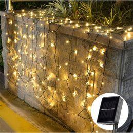 2019 lampeggiante tasto di ricerca leggera Corda per lampada a LED solare per esterni lampada da esterno per decorazioni natalizie per lampade natalizie
