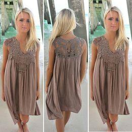 stile di abbigliamento vintage vintage per le donne Sconti Moda Boho Style  Donna Sexy pizzo abito d7b29e35376