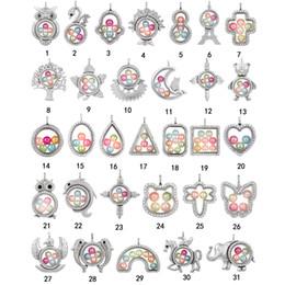kreuzcharme für schwimmende medaillon Rabatt Mode Große Perle Käfig Medaillon Anhänger Halskette Für Frauen Elefant Kreuz Eule Baum Living Memory Perlen Glas Magnetschwimm Charme Schmuck