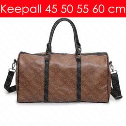 Rollende totes online-KEEPALL BANDOULIERE 60 55 50 45 cm Designer Mode Damen Herren Reisetasche Luxus Trage Rollgepäck Zubehör M41414