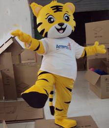 2019 traje de mascote do tigre dos desenhos animados O Tigre Traje Da Mascote Amarelo Rei Tigre muitas roupas Urso Mascote Traje Animal Dos Desenhos Animados Fantasia Vestido Adulto Tamanho Frete Grátis traje de mascote do tigre dos desenhos animados barato