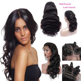 Fabrika satıcı Virgin Brezilyalı İnsan saç Dantel Frontal Peruk Toptan 100% Brezilyalı Vücut Dalga Bakire Saç Peruk Bebek Saç cheap brazilian hair factory wholesale nereden brezilya saç fabrikası toptan ticareti tedarikçiler