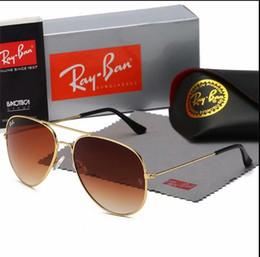 occhiali da sole degli uomini d'argento degli specchio Sconti 2020 occhiali da sole di marca nuovo designer grandi occhiali da sole in metallo per uomo donna argento specchio 56mm 62mm lenti in vetro protezione UV
