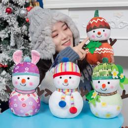 2020 рождественские снеговики Новые 25см Рождество Снеговик Doll плюшевой игрушки Творческий весна лето осень зима снеговика Кукла мягкая PP Cotton кукла новый год подарок дешево рождественские снеговики