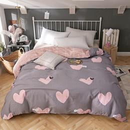 Prinzessin bettwäsche gesetzt voll online-Prinzessin Stil Bettwäsche Set rosa Liebe Bettbezug Bettbezug bequeme Heimtextilien Twin voll Königin King Size Gute Qualität