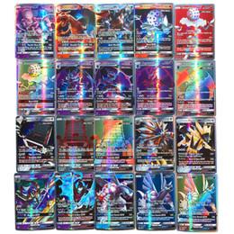 Non ripetere 100 200Pcs Riproduzione brillante a Game Collection Cards Giocattoli Trading GX MEGA Battaglia Carta Giocattolo lingua inglese T191101 da barbie auto fornitori
