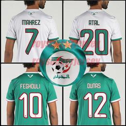 Argentina CALIDAD SUPERIOR 2019 Algeria Camisetas de fútbol de la Copa de África Argelia MAHREZ FEGHOULI ATAL BRAHIMI DELORT BENNACER camiseta de fútbol 19 20 Argelia maillot de foot Suministro