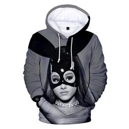 1d7d0228 ariana grande hoodie Canada - Ariana Grande Men new 3d Hoodies Sweatshirts  Women Fashion Hooded Print