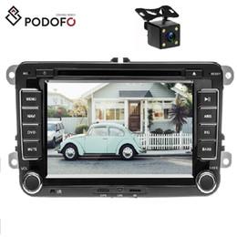 Siège tv en Ligne-Lecteur DVD de voiture podofo GPS Autoradio 2 Autoradio Audio pour golf / 6 / golf / 5 / passat / b7 / cc / b6 / siège / leon / tiguan / skoda / octavia + caméra LED 4