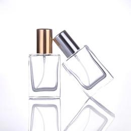Recarga atomizador de perfume on-line-Mais novo Vazio Frasco De Perfume 30 ML Garrafas de Spray De Vidro De Recarga Portátil Com Atomizador De Prata De Ouro Para A Água Produtos Cosméticos