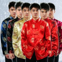 2019 chinesische männer traditionelle kostüme Tang Anzug Traditionelle Chinesische Jacken Männer Kleidungsstücke Chinesische Kostüm Stil Männer Hochzeit Bluse günstig chinesische männer traditionelle kostüme