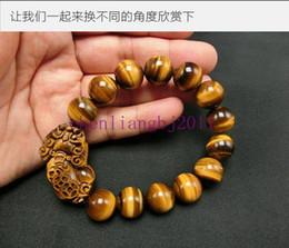 armbänder edelsteine Rabatt 12mm brüllen natürliche tigerauge runde edelsteine perlen brave troops armbänder 7,5
