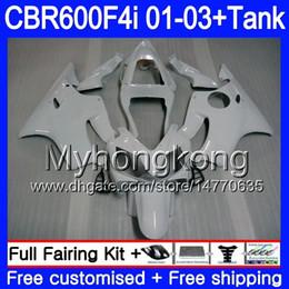Carrinhos brancos honda f4i on-line-Corpo + Tanque Para HONDA CBR 600 F4i Branco Pérola todos CBR 600F4i CBR600FS 600 FS 286HM.25 CBR600F4i 01 02 03 CBR600 F4i 2001 2002 2003 Carenagens