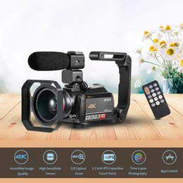"2019 видеомагнитофоны ORDRO AC5 4K WiFi Digital Video Camera Camcorder Recorder DV 24MP 3.1"" IPS Touchscreen 12X Optical Zoom Time-Lapse Anti-shake"