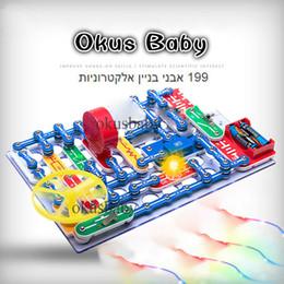 Elektrische spielzeug online-Nagelneue 199 Arten zusammengesetzte Modus-Schalter-Stromkreise Elektronik-Block-Installationssatz-elektrisches pädagogisches zusammenbauendes Spielzeug für Kinder SH190910