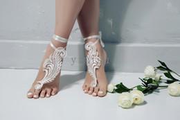 sandalias de baile Rebajas La boda del cordón de playa sandalias descalzas de la boda Zapatos Accesorios Prom dama de honor de novia regalo con cierre de tiras baratos en la acción envío rápido