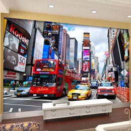 2020 new york schlafzimmer tapete Kundenspezifisches Foto Tapeten Bus New York Times Große Wandbild Tapete Fernsehhintergrund-Wand-Papier Büro Wohnzimmer Schlafzimmer Tapeten-3D rabatt new york schlafzimmer tapete