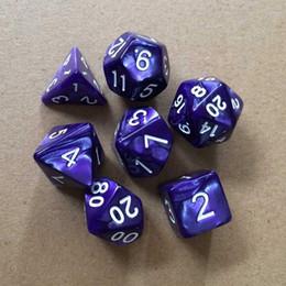 2019 lila drachen spiele Hochwertige Polyeder TRPG Spiel Würfel Für Dungeons Dragons D4-D20 Multi Seiten Bunte Würfel Für RPG Spielen DDG Set Würfel M513Y