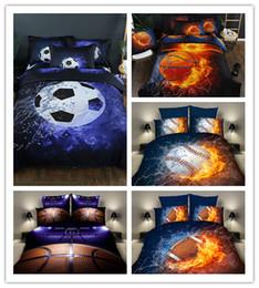2019 edredons de tamanho de rainha de borboleta Venda quente de esportes de basquete de futebol de beisebol impressão conjunto de cama capa de edredon com fronhas