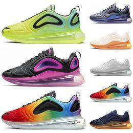 Zapatillas rosa amarillas online-Nike air max 720 al por mayor nueva Gel-Quantum 360 SHIFT zapatos de estabilidad de estabilidad negro blanco rojo azul para hombre zapato atlético zapatos deportivos entrenador de velocidad Hongniu