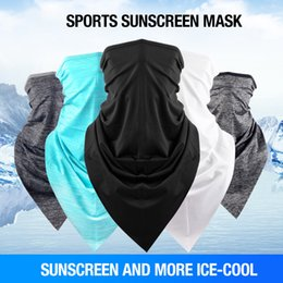 2019 pescoço aquecedores snowboard Ciclismo Cachecol Máscara Sweat Toalha de Verão Ao Ar Livre Gelo Seda Headband Respirável Homens Mulheres Metade do Rosto