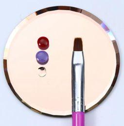 nail display stands Скидка Nail Art пластины советы дисплей стенд стойки доска маникюр инструмент зеркало стекло ложные советы ногтей дисплей доска цветовая палитра KKA6384