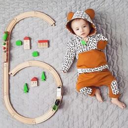 tierdruck-tops für babys Rabatt Baby Jungen Mädchen Kleidung Set Langarm Animal Print Tops + Hosen Outfits Kleidung Baby Kleidung Ropa Recien Nacido Roupas