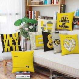 Travesseiros decorados on-line-teste padrão geométrico caso Inglês letras travesseiro 8 estilos casa sala decorar fronha capa de almofada 45 * 45 centímetros sofá