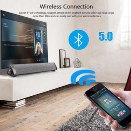 aux remoto Sconti LP1811 Altoparlante portatile Bluetooth Altoparlante wireless da 10 W PC TV Soundbar Home Theater Barra audio 3D stereo con telecomando AUX IN Subwoofer