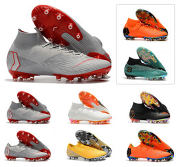 huge selection of 3573d 780ee Hommes chauds Mercurial Superfly VI 360 Vapor Elite XII Elite AG 6 12 CR7  CR7 Ronaldo NJR Neymar Football Chaussures de football Taille 39-45