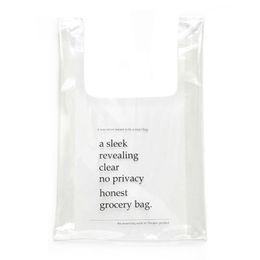 Пластиковые желе онлайн-Transparent Plastic Tote Women Design Shopping bag holographic Jelly Small bag Fashion PVC Clear beach shopping
