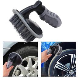 Spazzola per la pulizia dei pneumatici per auto di alta qualità T-Type Strumento per il lavaggio dell'automobile con spazzola per mozzi ruota multifunzionale Nuovo arrivo da