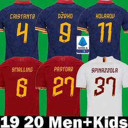 2019 roma fußball-trikot 2019 2020 Cristante DZEKO Smalling Fussball Trikot roma 19 20 camisa Kolarov rom Diawara AS DE ROSSI PASTORE Fußball Shirts totti Kinder rabatt roma fußball-trikot