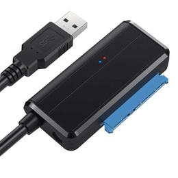 """45CM USB 3.0 a Sata 3 2 1 Cable convertidor adaptador SataIII a USB3.0 para unidad de disco duro SSD HDD Sata III II I de 2.5 """"y 3.5"""" desde fabricantes"""