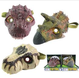 maskenentwürfe für kinder Rabatt Coole Latex Dino Party Masken Scary Halloween Maskerade Maske für Kinder Erwachsene Fnacy Kleid Cartoon Tier Hüte Assorted Design