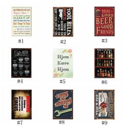 Segni di manifesti di caffè d'epoca online-Pittura su metallo Moto Caffè Vino motore Olio Birra Conchiglia Artigianato vintage Targa in metallo Retro Pittura in metallo Poster Bar Pub Parete EEA446