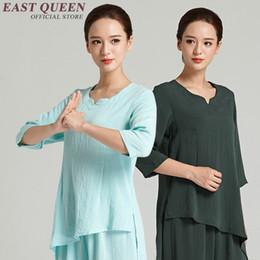 Uniforme de mujer de tai chi online-Taichi uniforme tai chi ropa mujeres tai chi uniforme kung fu artes marciales ropa suelta ajuste conjuntos deportivos AA2521 YQ