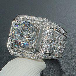 2019 большие каменные кольца для мужчин  Full Crystal Big Stone Cubic Zirconia Rings for Men And Women Male Metal Plated Wedding Engagement Ring скидка большие каменные кольца для мужчин