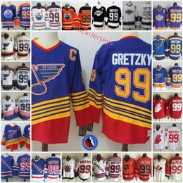 8d6d5c5fa Mens Wayne Gretzky Team Canada hockey Jersey #99 Wayne Gretzky St. Louis  Blues Edmonton Oilers Los Angeles Kings New York Rangers Jersey