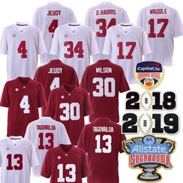 2b60a733b0e 2019 NCAA Orange Bowl Championship Alabama Crimson Tide 13 Tua Tagovailoa  34 D.Harris 4 Jerry Jeudy 17 Waddle 30 Wilson Jersey