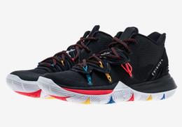 Свободные детские баскетбольные туфли онлайн-Мальчики Kyrie 5 друзья Детская обувь для продажи с коробкой лучший Kyrie Irving мужчины женщины баскетбольная обувь магазин бесплатная доставка size36-46