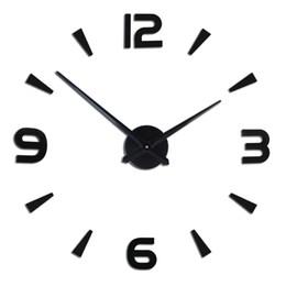 DIY Büyük Duvar Saati 3D Ayna Çıkartmalar Çerçevesiz Modern Tasarım Sessiz Büyük Izle Ev Ofis Numarası Saat Süslemeleri supplier diy clock numbers nereden diy saat numaraları tedarikçiler