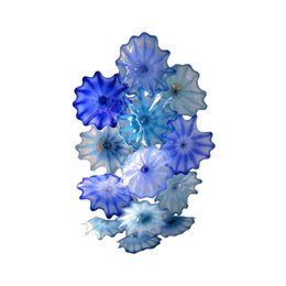 Canada Nouveau bleu plaque de verre de Murano pour la décoration murale, plaque de décoration de verre soufflé de Murano pour mur, décor plaque de plafond en verre d'art murano Offre