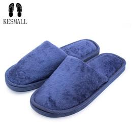 b88e131ed76 KESMALL Soft Plush Cotton Cute Slippers Shoes Non-Slip Floor
